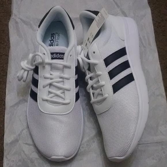 womens white adidas black stripes